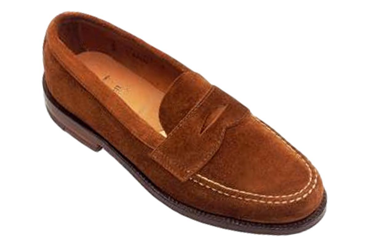 6243F Unlined Leisure Hand Sewn Loafer in Snuff Suede-Alden-MILWORKS