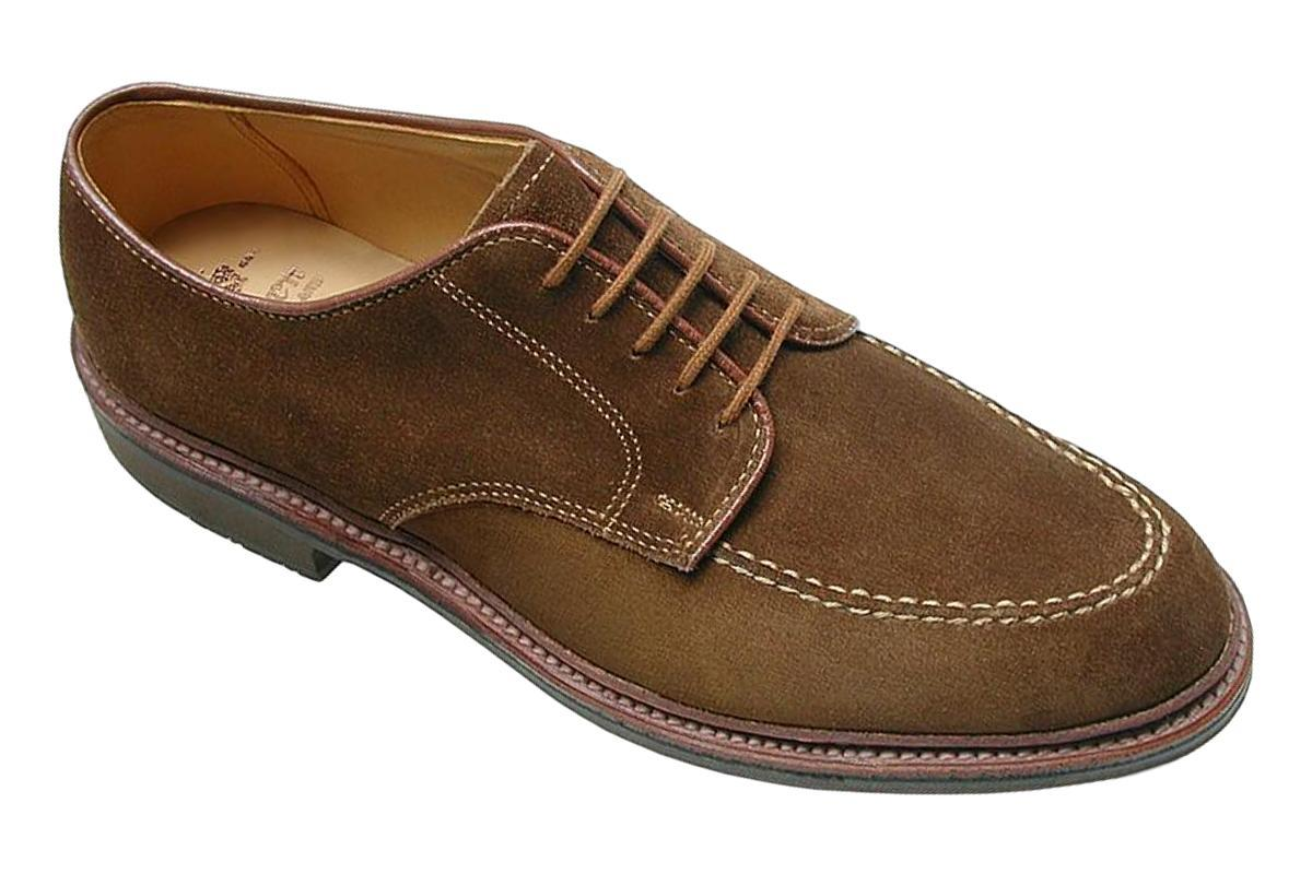 702 Mocc Toe Leisure Oxford in Snuff Suede-Alden-MILWORKS