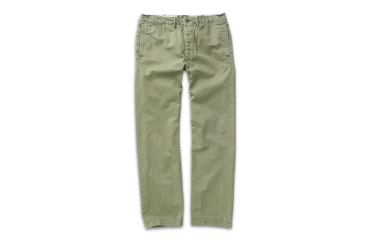 RRL Cotton Officer's Chino Olive