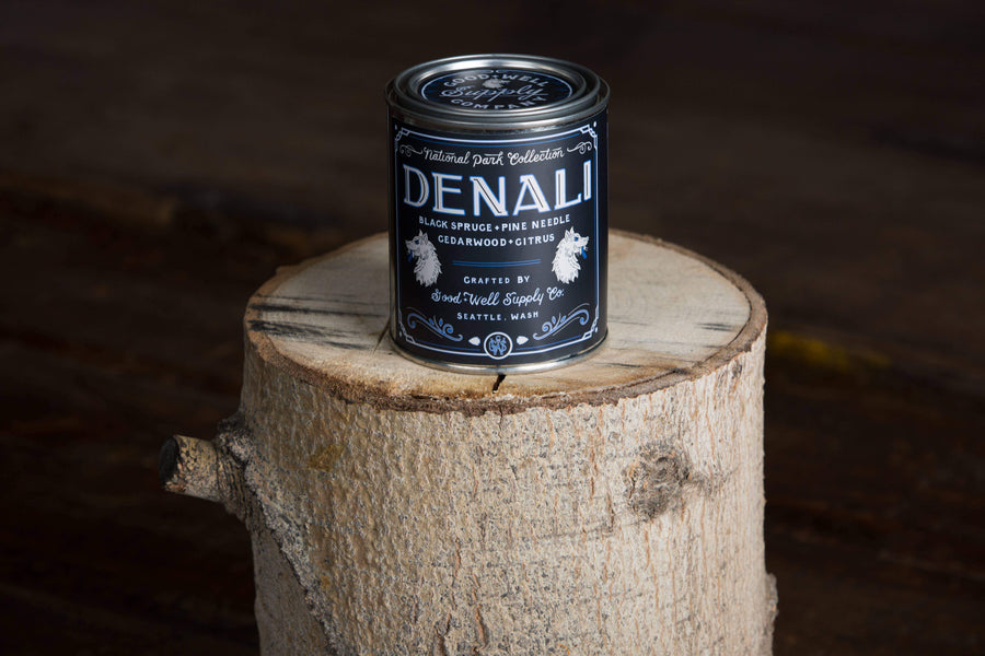 Denali Candle- Black Spruce, Pine, Cedarwood & Citrus-Good & Well Supply Co.-MILWORKS