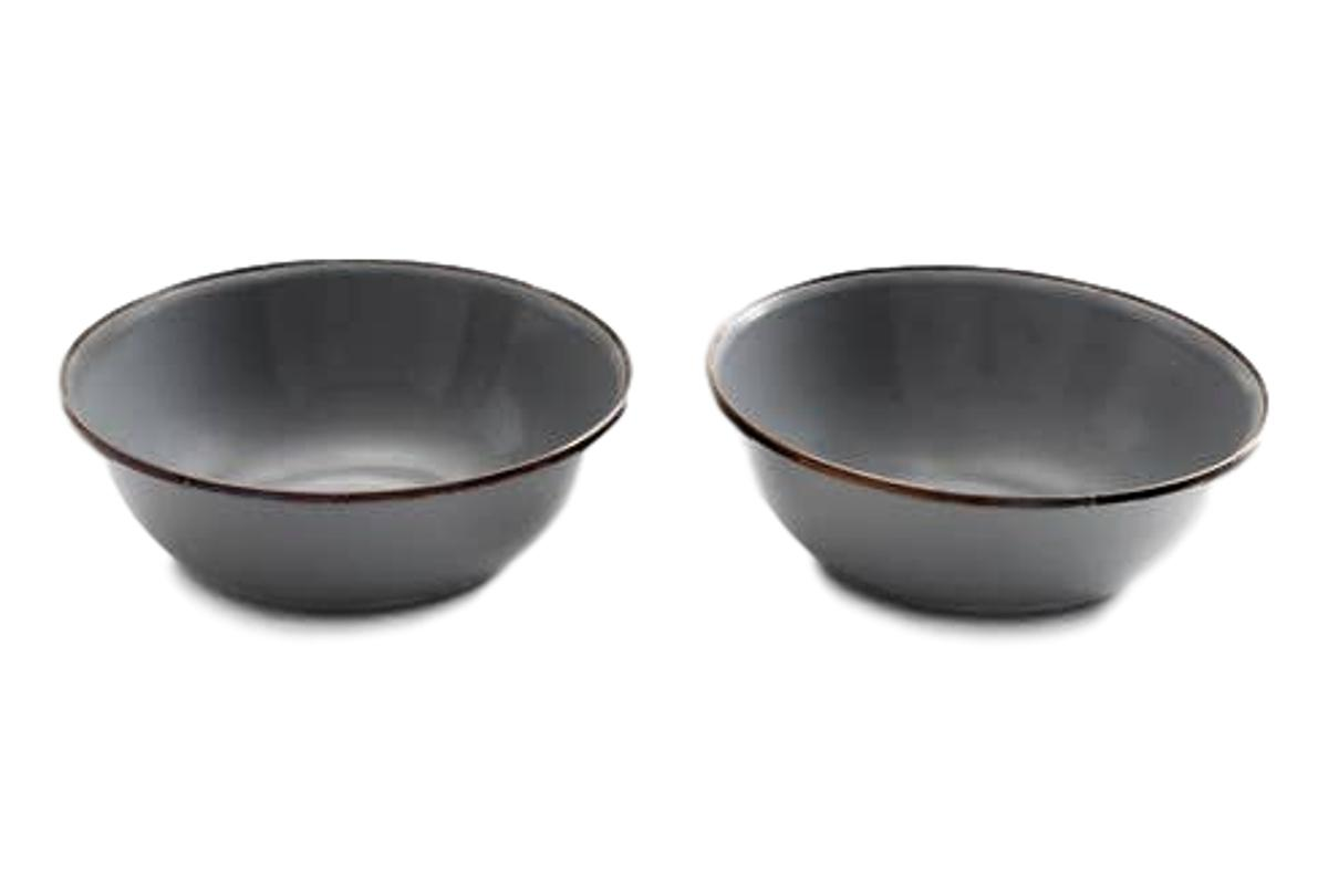 Enamel Bowl (Set of 2)-Barebones Living-MILWORKS