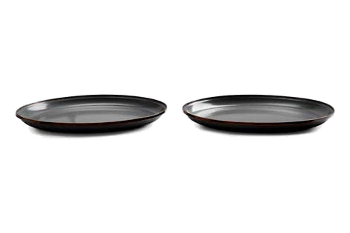 Enamel Deep Plate (Set of 2)-Barebones Living-MILWORKS