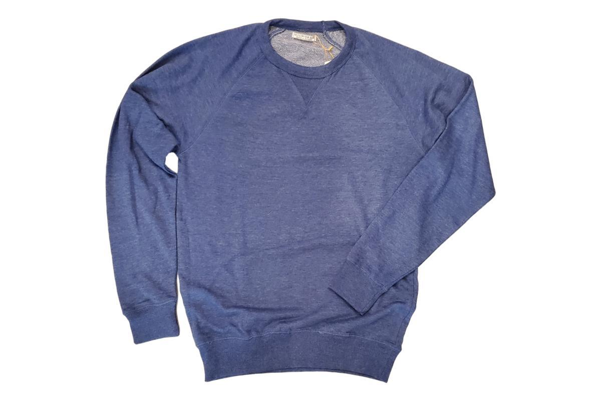 French Terry Crew Sweatshirt Denim-Milworks-MILWORKS