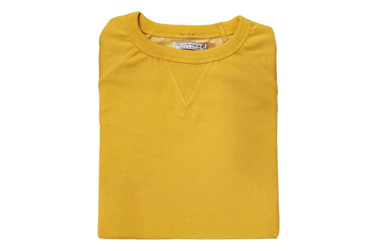French Terry Crew Sweatshirt Mustard-Milworks-MILWORKS