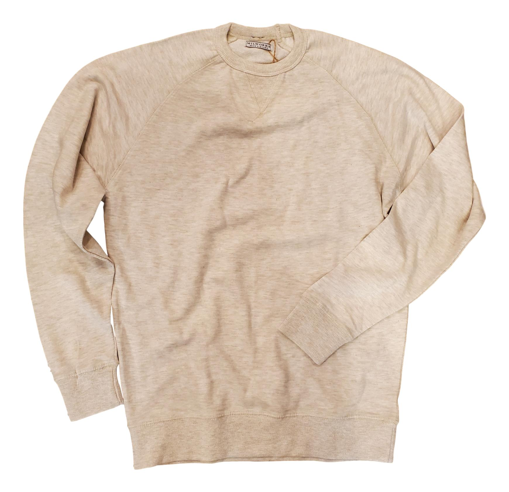 French Terry Crew Sweatshirt Oatmeal-Milworks-MILWORKS