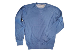 French Terry Crew Sweatshirt Slate Blue-Milworks-MILWORKS