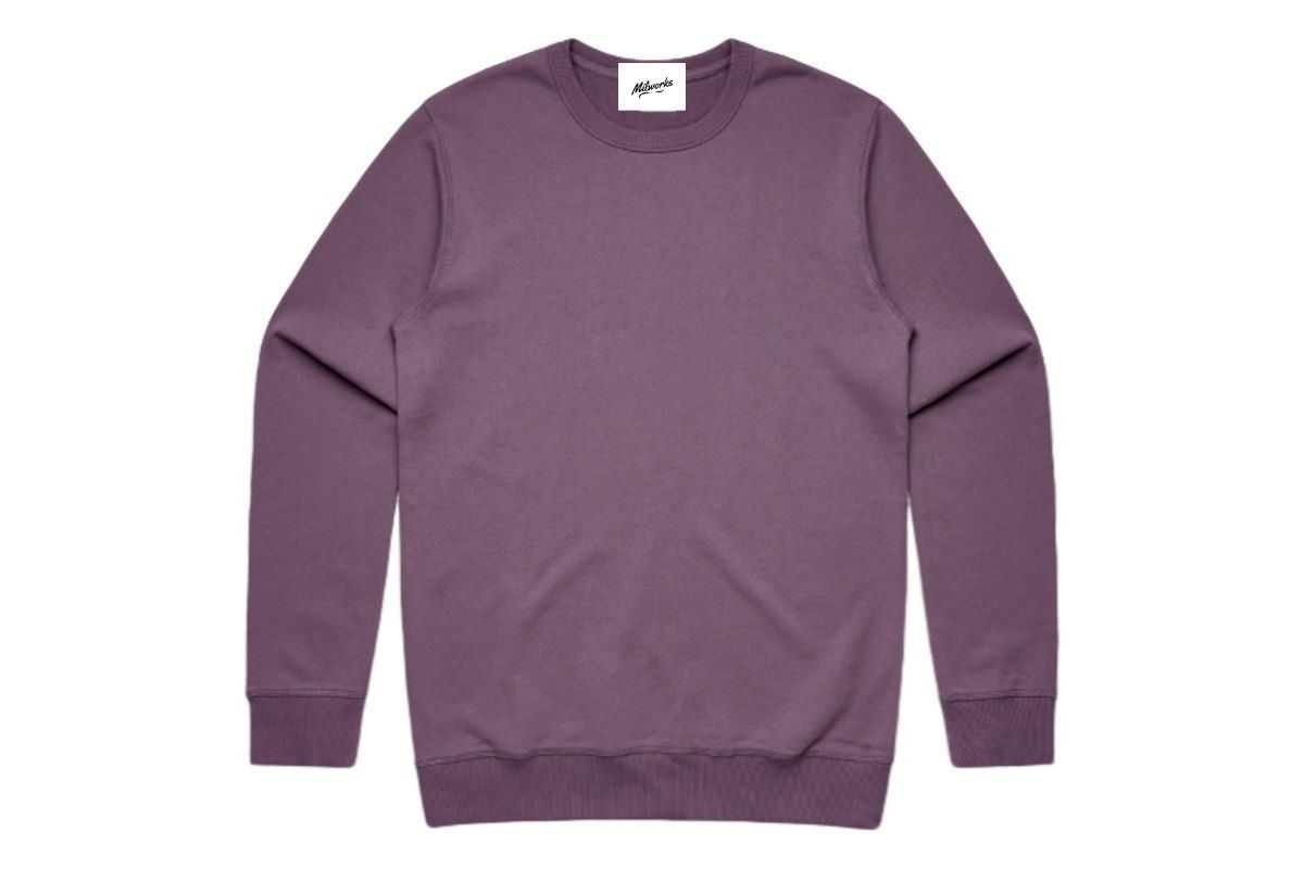 Heavy Weight Crew Sweatshirt Mauve-Milworks-MILWORKS