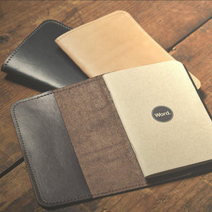 Leather Sleeve - Brown-Word. Notebooks-MILWORKS