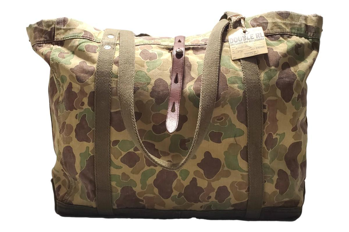 Leather Trim Camo Tote-RRL-MILWORKS
