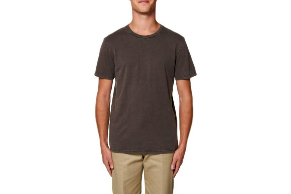Mike Garment Dyed T Shirt Deep Chocolate-Milworks-MILWORKS