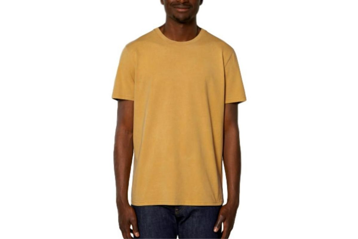Mike Garment Dyed T Shirt Ochre-Milworks-MILWORKS