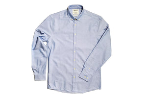 Oxford Slim Fit Shirt Blue-Milworks-MILWORKS