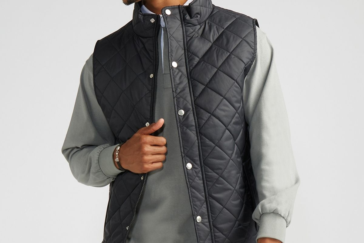 Quilted Field Vest Jacket Black-Milworks-MILWORKS