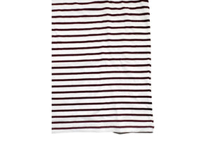 Striped Short Sleeve T-Shirt Burgundy White-Milworks-MILWORKS