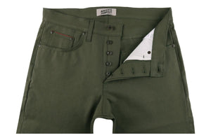 Naked & Famous Denim Super Guy Army Green Duck Selvedge