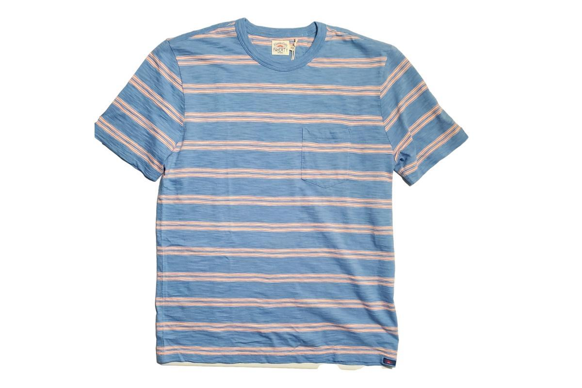 Surfrider Stripe Tee Coast Coral Stripe-Faherty Brand-MILWORKS