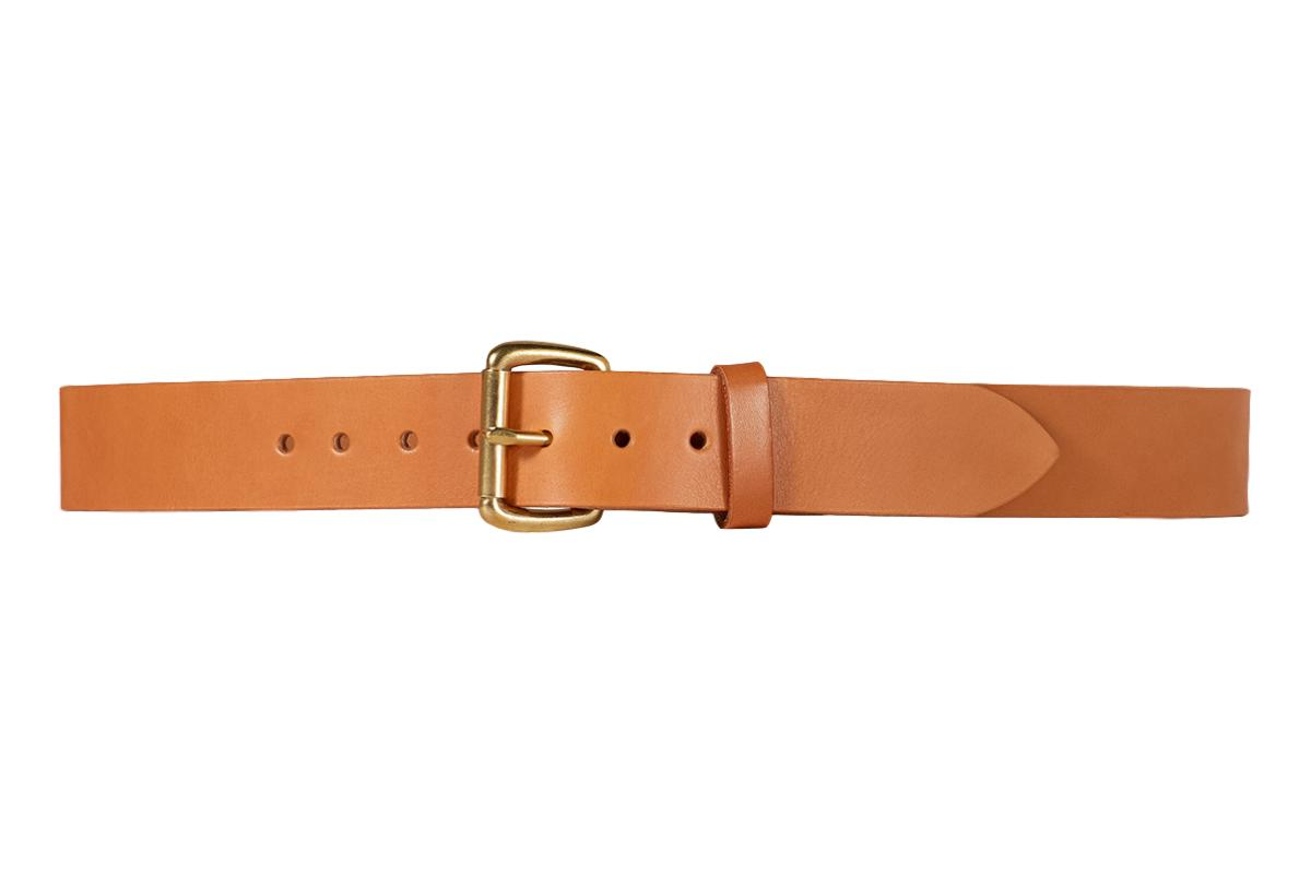 Filson Tan Leather Belt 1-1/2""