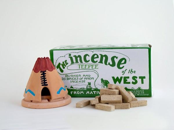 Incienso De Santa Fe Teepee with Pinon natural wood incense