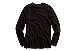 Textured Crewneck Faded Black Canvas-RRL-MILWORKS