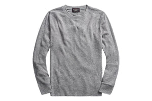 Waffle-Knit Cotton Crewneck Grey Heather-RRL-MILWORKS