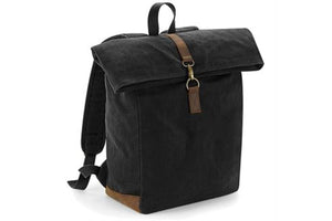 Milworks Waxed Canvas Backpack Black