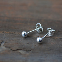Load image into Gallery viewer, 4mm Sterling Silver Ball Stud Earrings - jewelry by CookOnStrike
