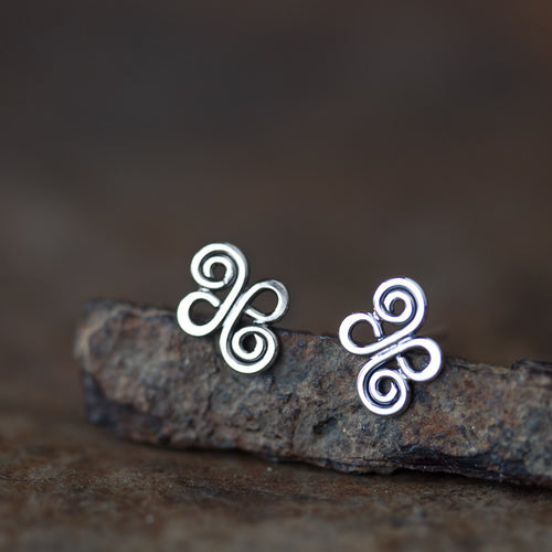 Small Celtic Stud Earrings - jewelry by CookOnStrike