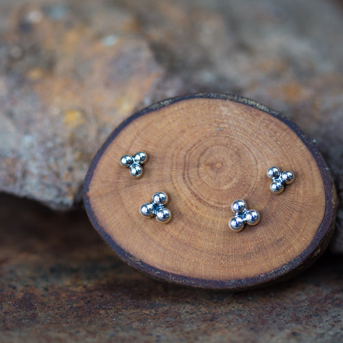 Three Dot Stud Earring Set, 4mm and 5mm - jewelry by CookOnStrike