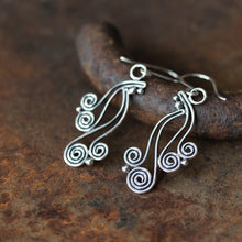 Load image into Gallery viewer, Spiral Waterfall Dangle Earrings, Sterling Silver - jewelry by CookOnStrike
