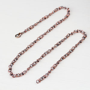 Handcrafted Copper Necklace - Bigger Link Chain - CookOnStrike
