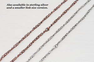 Handcrafted Copper Necklace - Bigger Link Chain - jewelry by CookOnStrike