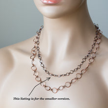Load image into Gallery viewer, Handmade Wire Wrapped Hammered Copper Links Chain - jewelry by CookOnStrike
