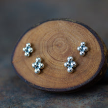 Load image into Gallery viewer, Beaded Diamond Shape Stud Earring Set For Double Piercing - jewelry by CookOnStrike