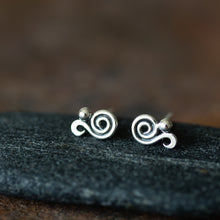 Load image into Gallery viewer, Elegant Dainty Spiral Stud Earrings, Sterling Silver - jewelry by CookOnStrike