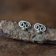 Load image into Gallery viewer, Tiny Double Spiral Stud Earrings, Sterling Silver - jewelry by CookOnStrike