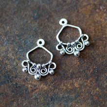 Load image into Gallery viewer, Unique Artisan Handmade Silver Ear Jacket Earrings - jewelry by CookOnStrike