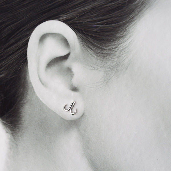 Double Hook Stud Earring