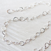 Load image into Gallery viewer, Handmade Wire Wrapped and Hammered Silver Links Chain Necklace - jewelry by CookOnStrike