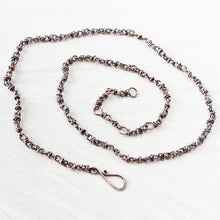 Load image into Gallery viewer, Handmade adjustable copper chain for pendant, wire wrapped links - CookOnStrike