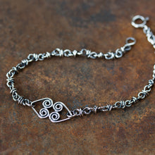 Load image into Gallery viewer, Silver Chain Bracelet With Celtic Hearts Ornament - jewelry by CookOnStrike