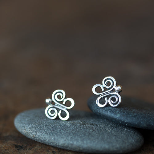 Tiny Butterfly Stud Earrings, 9mm - jewelry by CookOnStrike