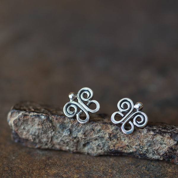 Tiny Butterfly Stud Earrings, 9mm - CookOnStrike