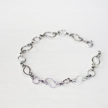Load image into Gallery viewer, Marquise links chain bracelet, sterling silver - jewelry by CookOnStrike