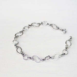 Marquise links chain bracelet, sterling silver - jewelry by CookOnStrike