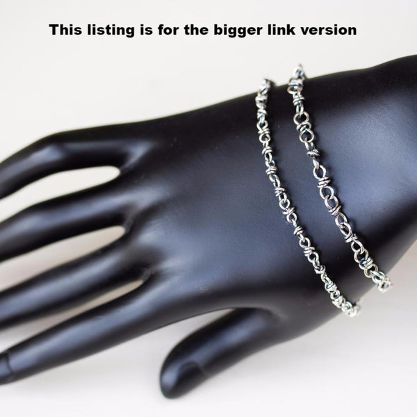Bigger Link Chain Bracelet for Man or Woman, Sterling Silver - CookOnStrike