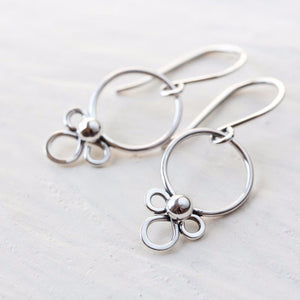 Dainty Silver Earrings, simple minimal everyday jewelry - jewelry by CookOnStrike