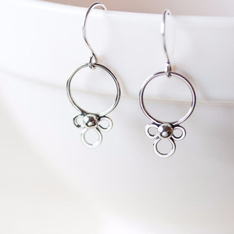 Dainty Silver Earrings, simple minimal everyday jewelry
