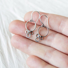 Load image into Gallery viewer, Dainty Silver Earrings, simple minimal everyday jewelry - jewelry by CookOnStrike