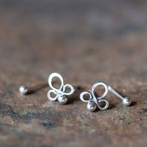 fc6a82c41 ... Abstract Double Piercing Earring Set, Sterling silver studs -  CookOnStrike ...