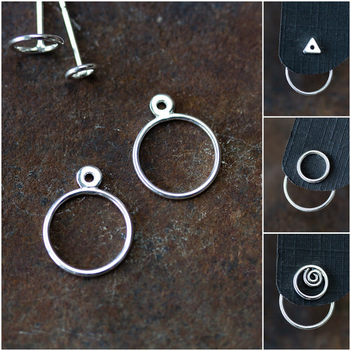 Minimalist Silver Circle Ear Jackets - jewelry by CookOnStrike